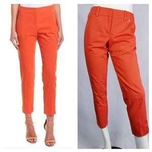 Trina Turk Ankle Cropped Pants Bright Orange Sz 2